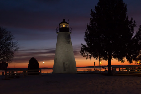 waterscapes: Glow behind the lighthouse