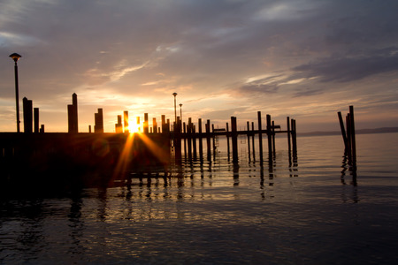 waterscapes: Sunrise over the dock