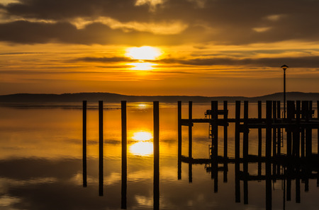 waterscapes: Reflections of a golden sunrise