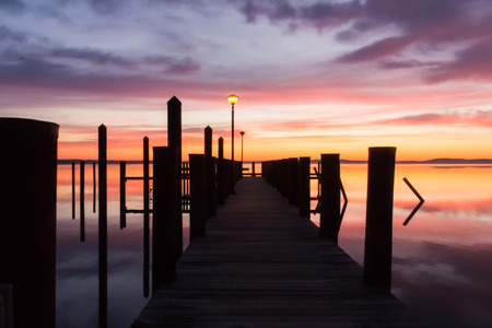 waterscapes: Colorful sunrise