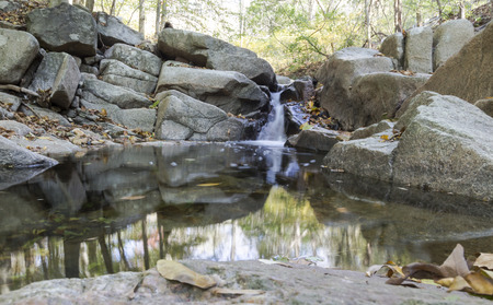 waterscapes: Small stream with a pond and waterfall