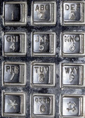 古い公衆電話キーパッド