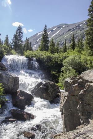 Rocky Mountain snow melt Stock Photo
