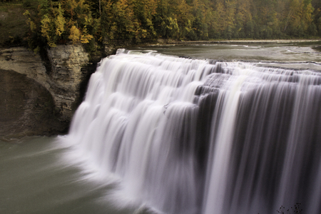 waterscapes: Waterfall in fall Stock Photo