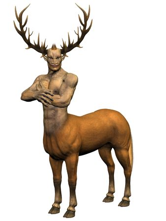 3D rendered image of centaur on white background isolated