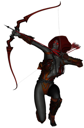dark elf: 3D rendered dark elf warrior on white background