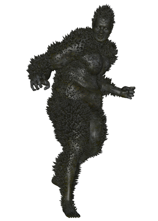 3D rendered monster on white background isolated