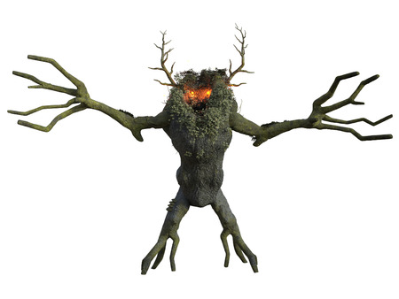 3D rendered illustration of fantasy ent on white background isloted