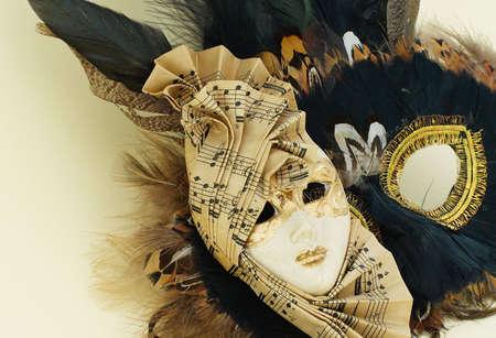 Venetian mask with staff Stock Photo