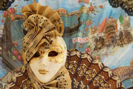 Venetian range and mask with staff Stock Photo