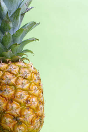 Pineapple details. Stock Photo