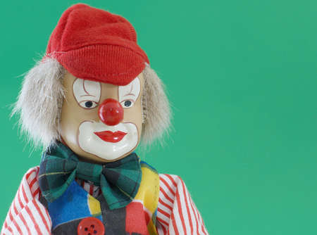 Clown Doll, portrait with right margin