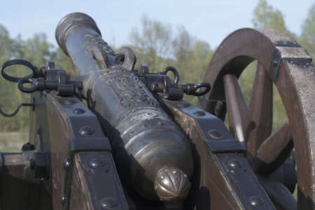 Cannon barrel from napoleonic wars. Battle 1806 -1812 years. Poland.