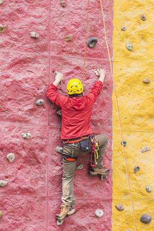 hard stuff: Rock climbing Stock Photo