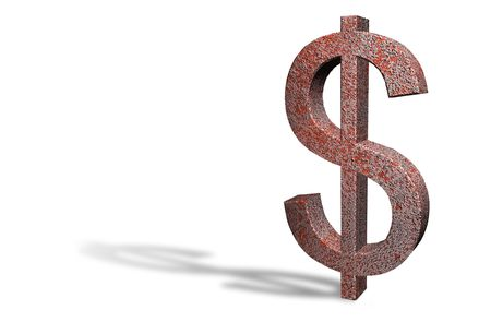 valuta: Rusty Dollar as a symbol for the worldwide economic crisis Stock Photo