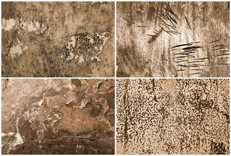 Grunge Backgrounds 4 different grungy structures photo