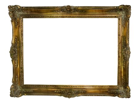 scuff: grunge frame -antique kitsch free space for picture Stock Photo