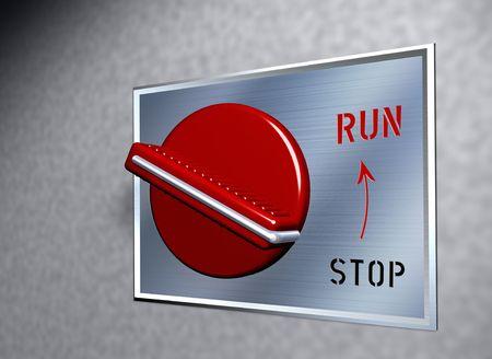 Red switch - RUN photo