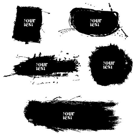 5 vaus grungy brushes for text or pics, vector, grunge Stock Vector - 4760603