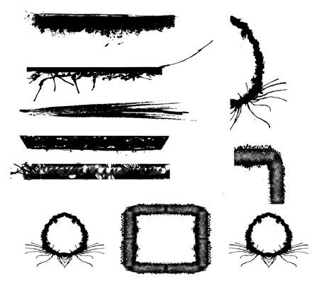 blab: serie di elementi di struttura o dei confini - una sorta di un kit di grungy