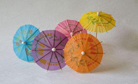 Set of multicolored small paper umbrellas 2 Stock Photo - 4902976