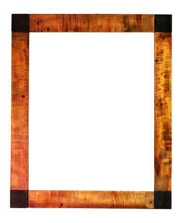 Worn art nouveau picture frame, free copy space, grunge photo