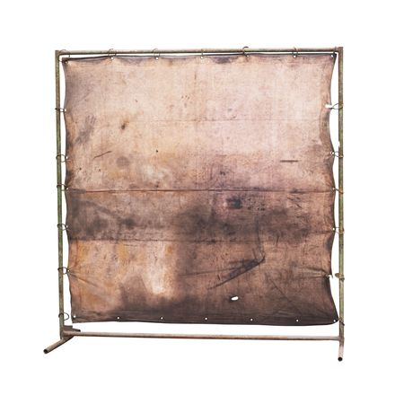 blank worn canvas and stand, free copy space,grunge photo