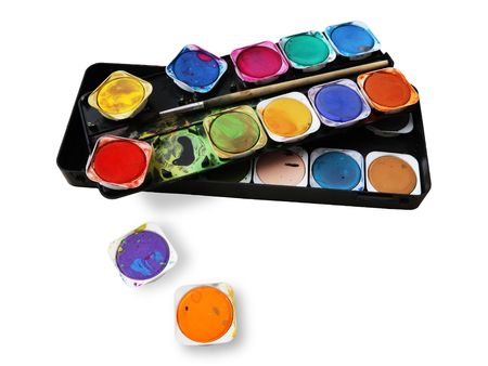 unleashed: Paint box, with splatters, unleashed colours, artist toolbox