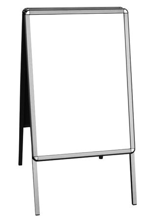 noticeboard: blank sandwich board, isolated on white background, free copy space Stock Photo