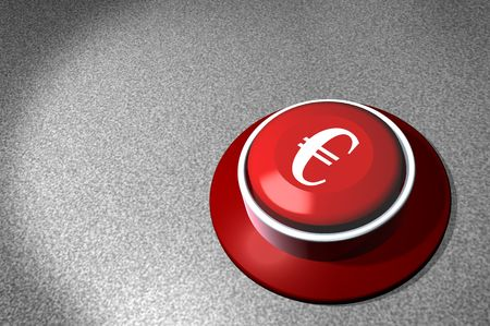 economic downturn: Business illustration red switch with caption