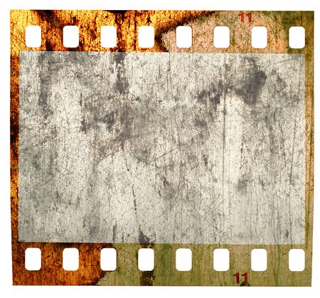 crinkles: battered grungy 35mm slide, scratches, grotty and spotty