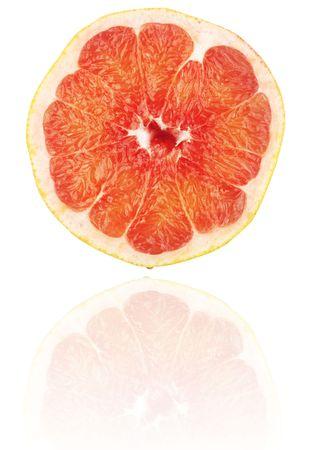 progeny: ripe grapefriut, isolated on white background,studio shot Stock Photo