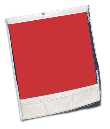 battered: battered instant  photo with red space to add your own image