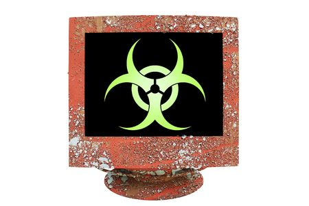 symbol virus infection, grungy Stock Photo - 6505026