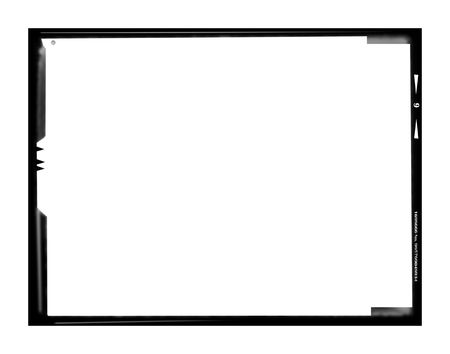 format: Blank large format negative picture frame,with free copy space, isolated on white background,