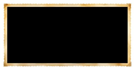 edged: Vintage photographic deckle edged picture frame, panoramic format, free copy space