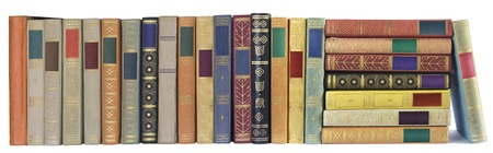 books stack: vintage books in a row