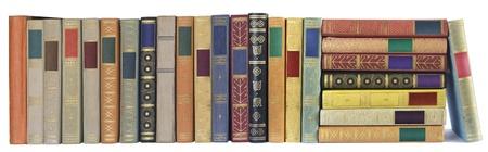 Vintage libros en una fila