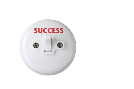 Business illustration white switch,caption Stock Illustration - 8539354