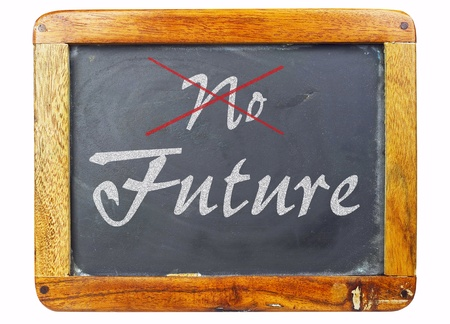 vintage school blackboard, concept future  photo