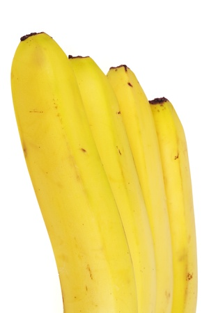 Closeup of a bunch of bananas,isolated on white background photo