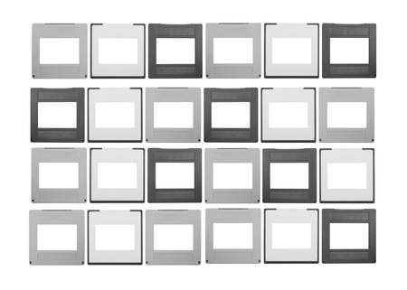 set of 35mm slides, isolated on white background,free space for your pics photo
