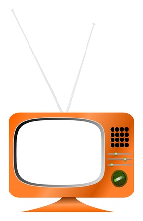 Vintage illustration of a retro TV, free space for pix Vector
