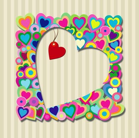 Retro heart and love design Vector