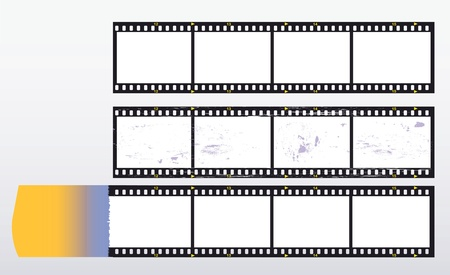 incidence: 35 mm filmstrip, picture frame,with light incidence,free copy space