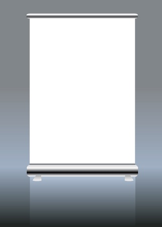 stand up: roll up banner display, blank , vector fromat