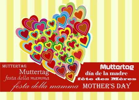d�a de las madres  Vectores