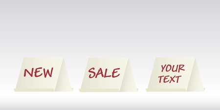 blanck: promotion display cards, folded paper, vector Illustration