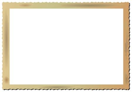 deckle: Vintage blank picture frame,vector Illustration