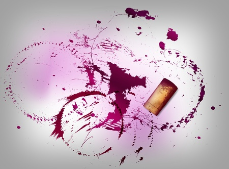 Cork and whine stains photo